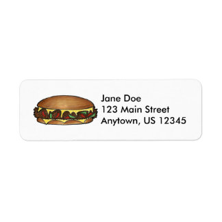 Philly Cheesesteak Return Address Labels