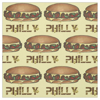 Philly Cheesesteak Steak Sandwich Philadelphia PA Fabric