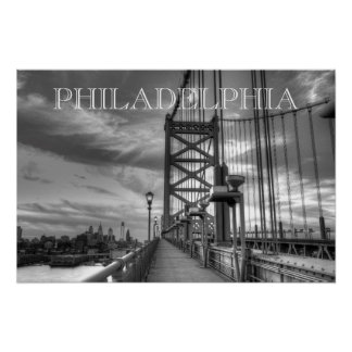 Philly from the bridge print