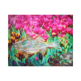 Philly Garden Stretched Canvas Print