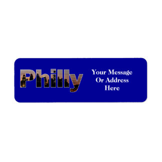 Philly Letters Label Return Address Label