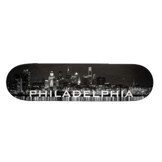 Philly night b/w 21.6 cm skateboard deck