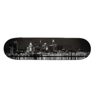 Philly night b/w skate boards