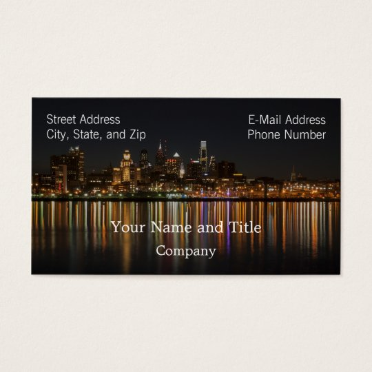 Philly night business card