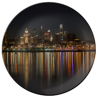 Philly night porcelain plates