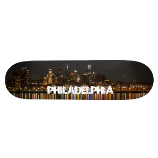 Philly night skate deck