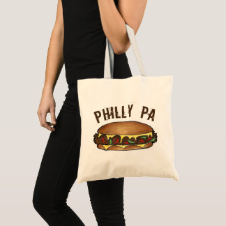 Philly PA Philadelphia Cheese Steak Sandwich Food Tote Bag