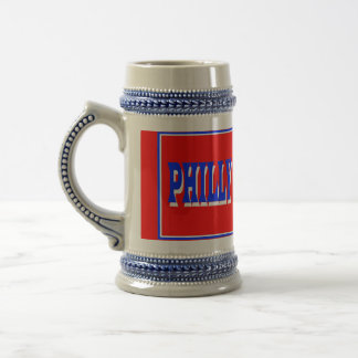 Philly Red Square Stein Mug