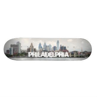 Philly skyline 2 18.1 cm old school skateboard deck