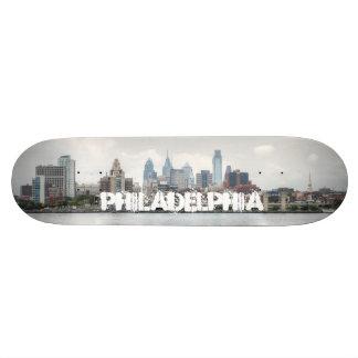 Philly skyline 2 21.3 cm mini skateboard deck