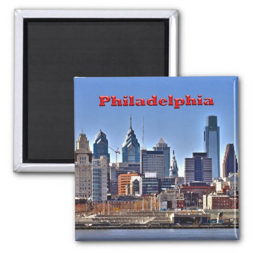 Philly Skyline HDR Magnet