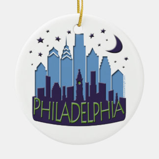 Philly Skyline mega cool Christmas Ornament