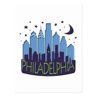 Philly Skyline mega cool Postcard