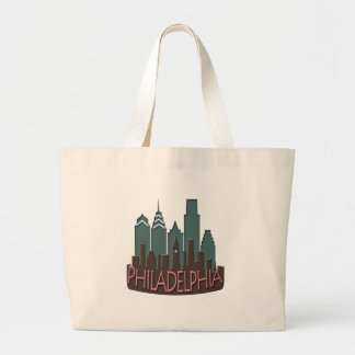 Philly Skyline newwave chocolate Canvas Bag