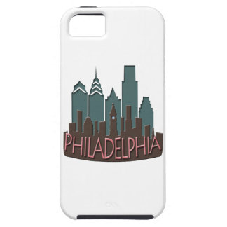 Philly Skyline newwave chocolate iPhone 5 Cover