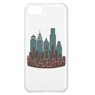 Philly Skyline newwave chocolate iPhone 5C Case