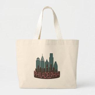 Philly Skyline newwave chocolate Jumbo Tote Bag