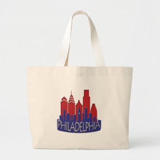Philly Skyline newwave patriot Tote Bags