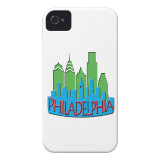 Philly Skyline newwave primary Case-Mate iPhone 4 Cases