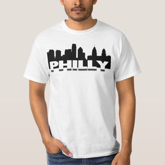 Philly Skyline on a Basic Tee