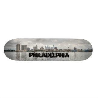 Philly skyline skate deck
