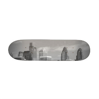 Philly skyscrapers black and white 19.7 cm skateboard deck