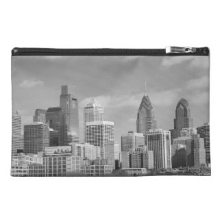 Philly skyscrapers black and white travel accessory bags