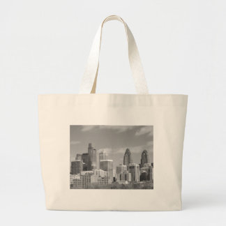 Philly skyscrapers black and white jumbo tote bag