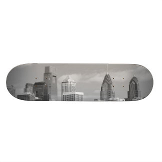 Philly skyscrapers black and white skateboard