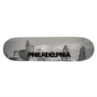 Philly skyscrapers black and white skateboards