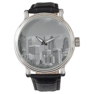 Philly skyscrapers black and white watch