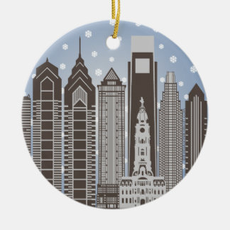 Philly Snowflakes Christmas Ornament