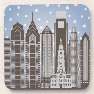 Philly Snowflakes Coaster