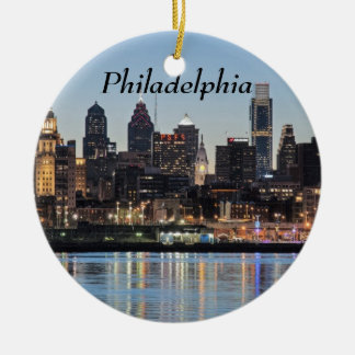 Philly sunset christmas ornament