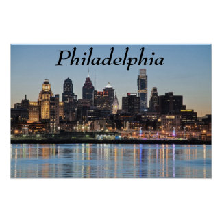 Philly sunset poster