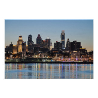 Philly sunset print