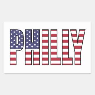 Philly (USA) Rectangular Sticker