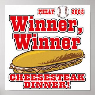 Philly Winner Cheesesteak Dinner Print