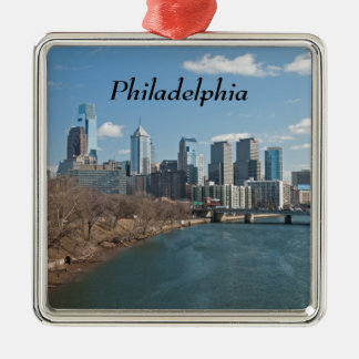Philly winter christmas ornament