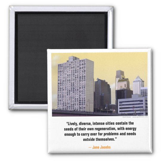 """PhillyTunes"" Jane Jacobs Magnet"