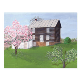 Philomont Log Cabin Postcard
