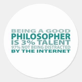 Philosopher 3% Talent Classic Round Sticker