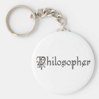 Philosopher Basic Round Button Key Ring