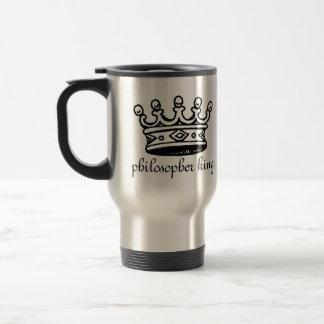 Philosopher King steel travel mug (right-hand)