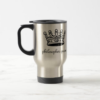 Philosopher Queen (blk crwn)travel mug(right-hand) Stainless Steel Travel Mug