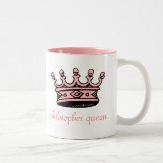 Philosopher Queen (pnk crwn)pink 2-tone(left-hand) Two-Tone Mug