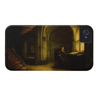 Philosopher with an Open Book, 1625-7 (oil on pane Case-Mate iPhone 4 Case