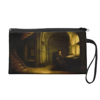 Philosopher with an Open Book, 1625-7 (oil on pane Wristlet Clutches
