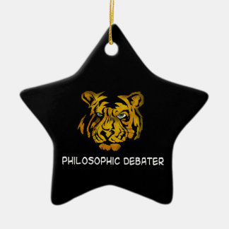 Philosophic Debater Christmas Ornament