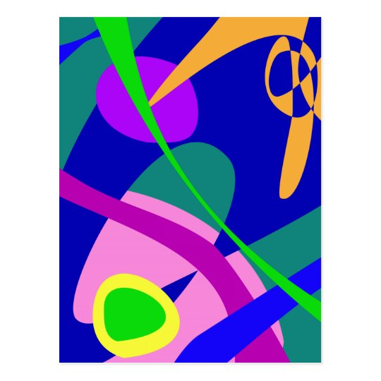 Philosophical Man Digital Abstract Pattern Postcard